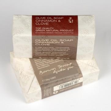 120gr Bonum Terrae handmade olive oil soap A' class - cinnamon & clove fragrance