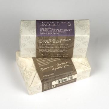 120gr Bonum Terrae handmade olive oil soap A' class - lavender fragrance