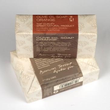 120gr Bonum Terrae handmade olive oil soap A' class - orange fragrance