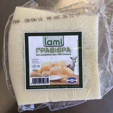 Goat and sheep Graviera cheese L'ami 200 gr