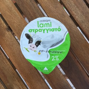 Strained cow's yogurt 2%  L'ami 200 gr