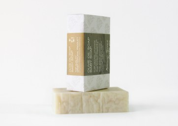 Jabón artesanal de oliva para bebé Bonum Terrae 120 gr