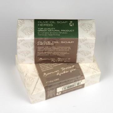 Jabón artesanal de oliva & hierbas Bonum Terrae 120 gr