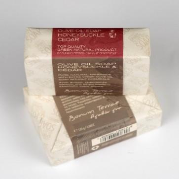 Jabón artesanal de oliva, madreselva y cedro Bonum Terrae 120 gr