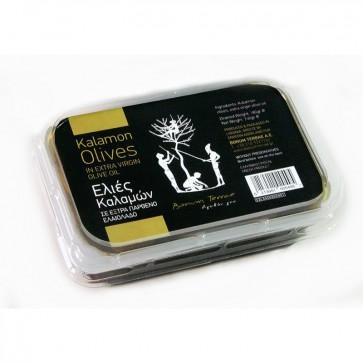 Olives Kalamon à l'huile d'olive Bonum Terrae 180 gr