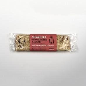 Barres de sésame aux amandes et canneberges Bonum Terrae 90 gr